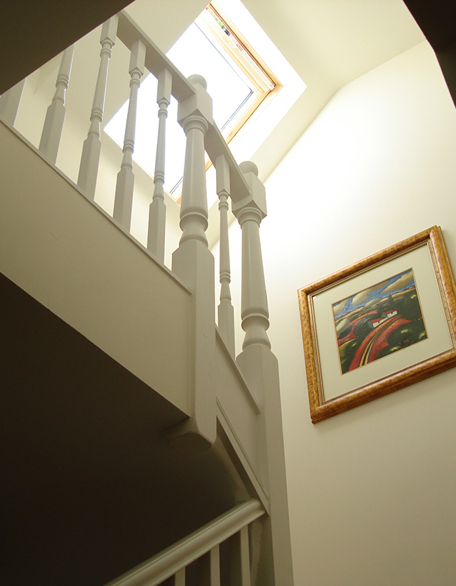 Progress of a loft conversion from start to finish in photos